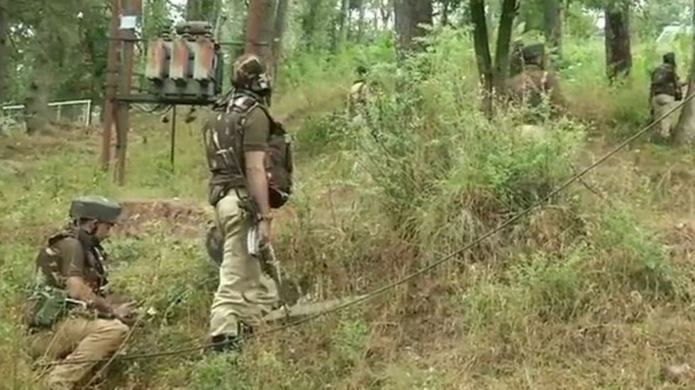 An encounter also broke out between security forces and terrorists in Jammu and Kashmir's Doda district (Image: @ANI)