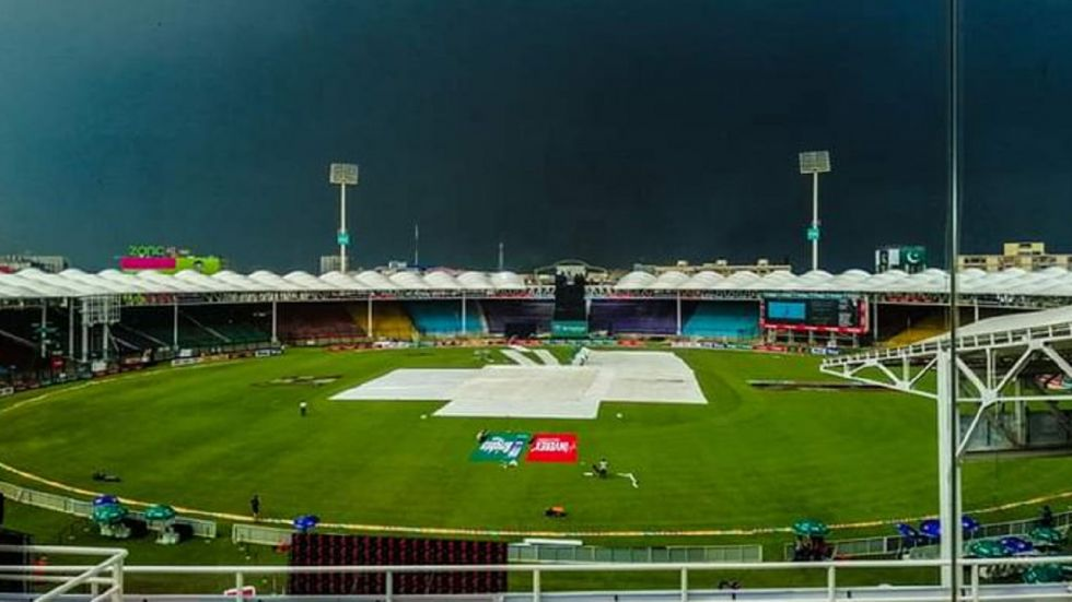 The Pakistan vs Sri Lanka second ODI in Karachi has been rescheduled from Sunday to Monday as the groundstaff get more time to repair the outfield. (Image credit: Twitter)