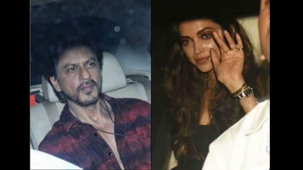 Shah Rukh Khan, Deepika Padukone At Ranbir's Birthday Bash. (Image: Manav Manglani/ Instagram)