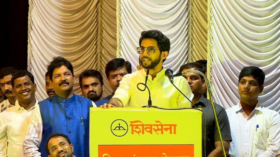 Aaditya Thackeray made the announcement at a party rally in Mumbai. (Twitter)