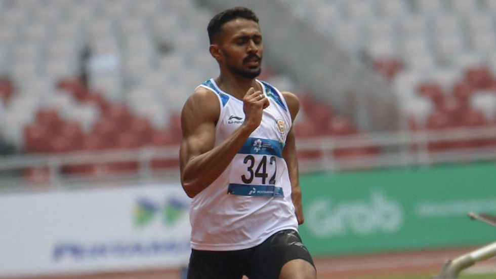 Muhammed Anas ran the first leg as India clocked 3 minute 15.77 seconds to finish seventh (Image: PTI File)