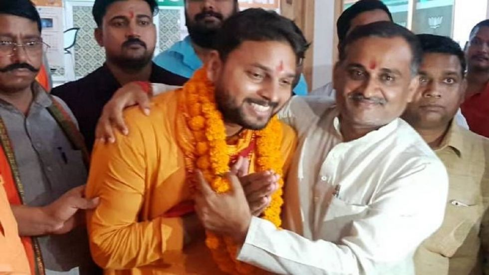 Image result for BJP has made Vijay Rajbhar a candidate from Ghosi