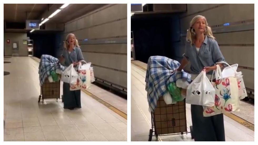 Video Of Homeless Woman Singing Opera In LA Metro Win Hearts (Photo: Twitter\@LAPDHQ)