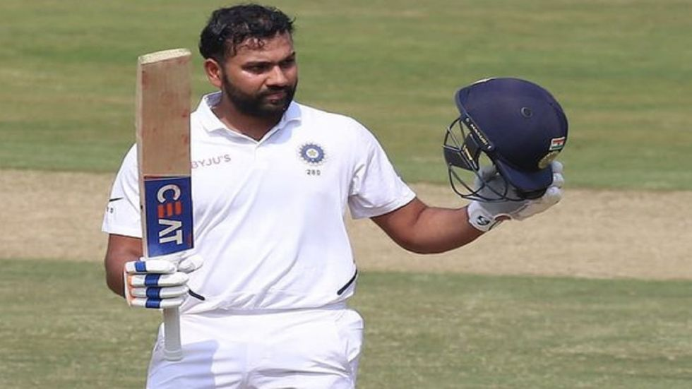 Rohit Sharma blasted his first century as an opener as India reached a position of strength against South Africa in the Vizag Test. (Image credit: Twitter)