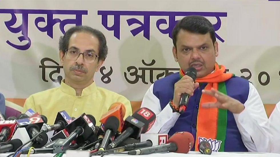 Devendra Fadnavis, Uddhav Thackeray announce BJP-Shiv Sena alliance for Maharashtra Assembly polls