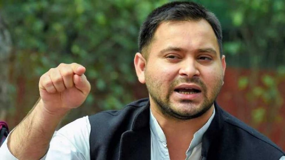"""Tejashwi Prasad Yadav termed the ongoing war of words between the BJP and the JDU as """"a fight between animals""""."""