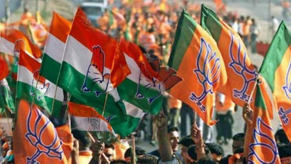 Ruling BJP is going full throttle to realise its target of bagging over 75 seats in the 90-member Assembly, which goes to polls on October 21