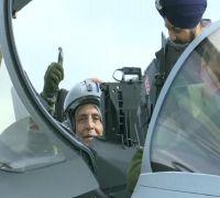 Rajnath Singh Flies On India's First Rafale Jet, Describes It 'Unprecedented Moment'