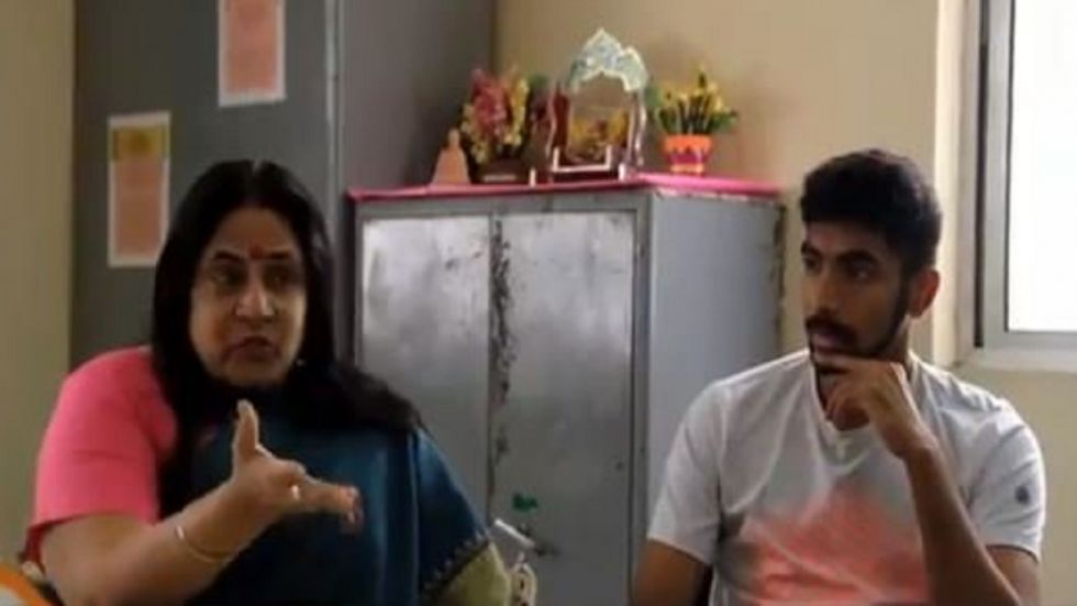 Jasprit Bumrah and his mother Daljit highlighted the struggles that the Indian pacer faced while growing up.