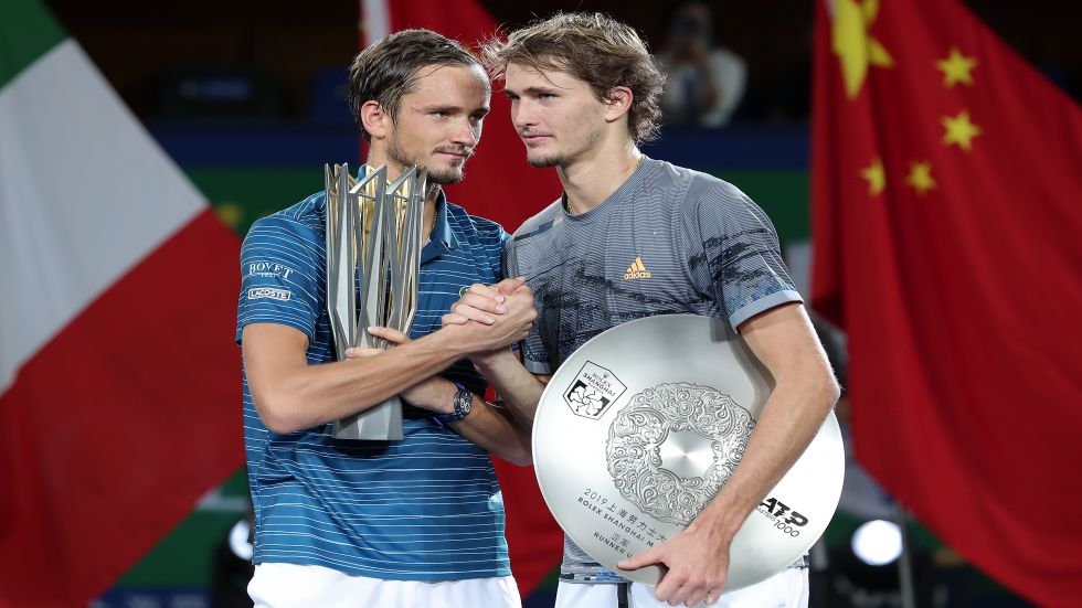 Daniil Medvedev has finally beaten the German Zverev, another young contender at 22, at the fifth attempt in a match that lasted 74 minutes.