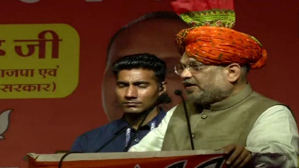 'Press lotus button so hard that…': Amit Shah's 'Italy' jibe at Congress in Gurugram