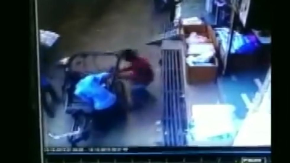 The video of the incident, which was captured on the CCTV cameras installed in the nearby buildings, has gone viral on social media.