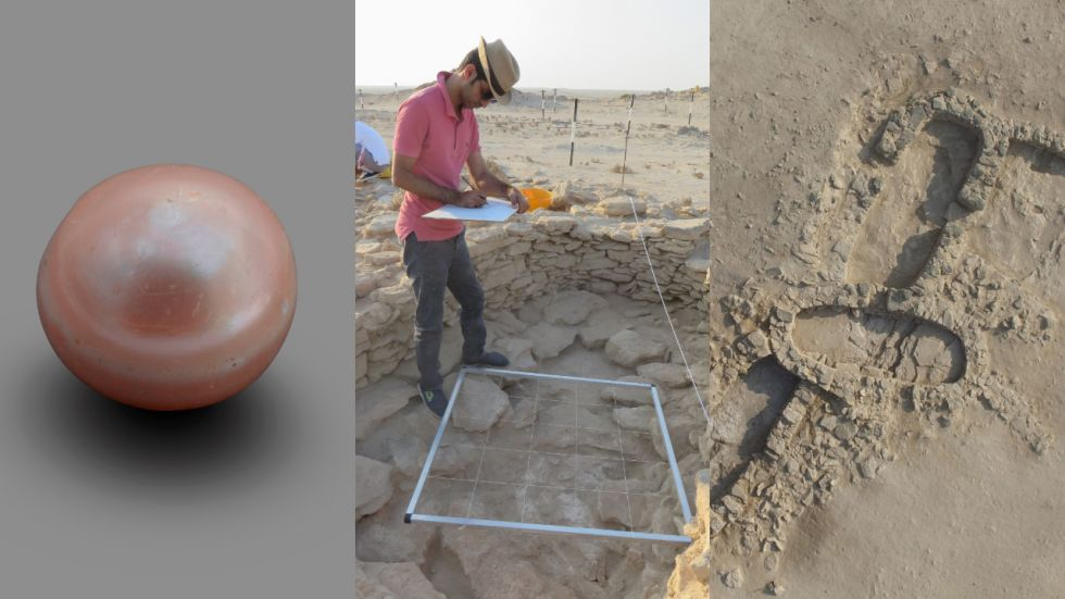The excavation of the Marawah site, which is made up of numerous collapsed Neolithic stone structures, has also yielded ceramics, beads made from shell and stone.