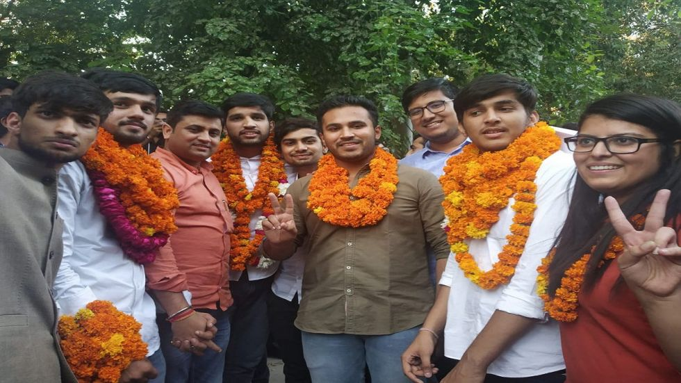 ABVP Wins 7 Out of 11 Posts Of DUSU Executive Committee Election 2019