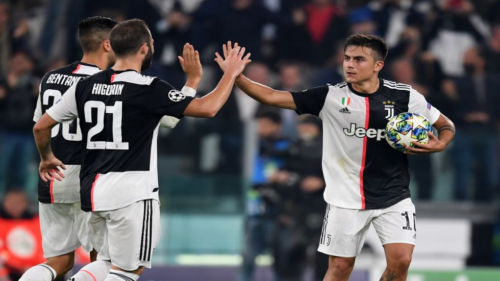 Paulo Dybala's brace has given Juventus seven points in three games in the UEFA Champions League.