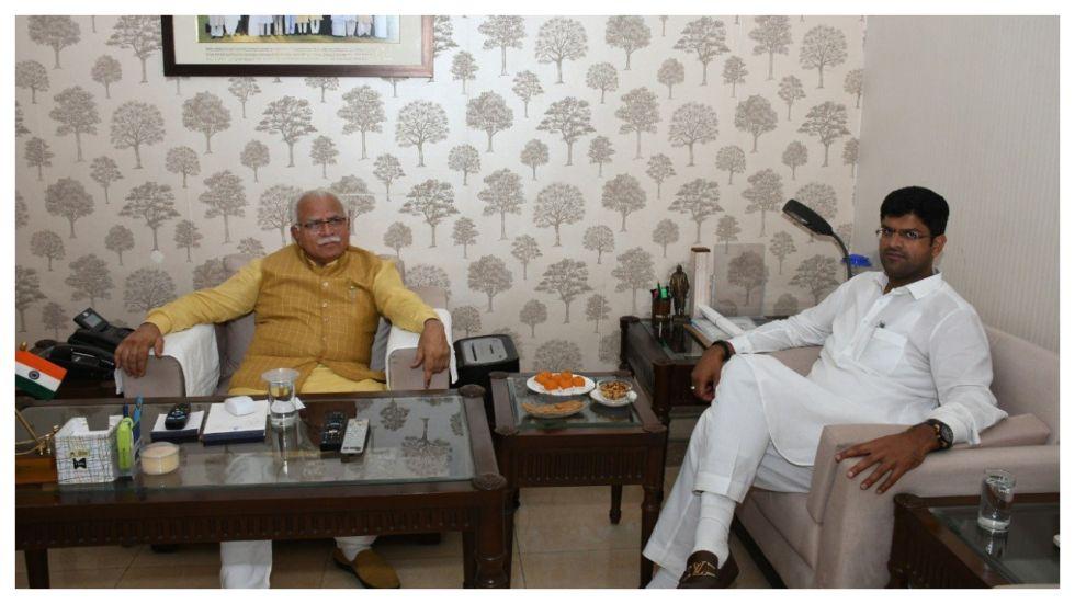 Manohar Lal Khattar and Dushyant Chautala