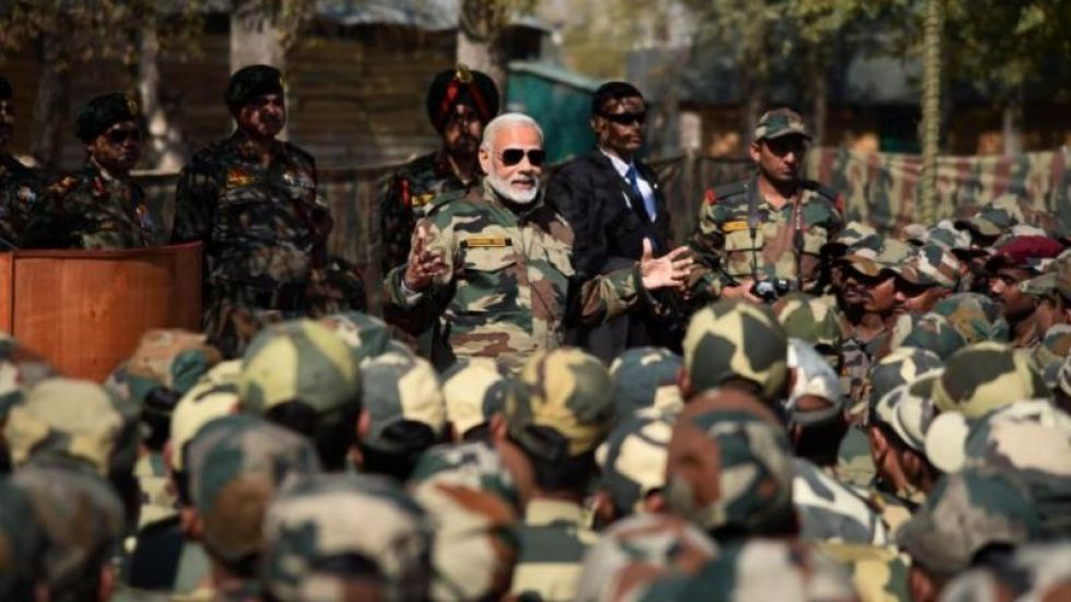Prime Minister Narendra Modi celebrated Diwali with Jawan in Gurez in Jammu and Kashmir.