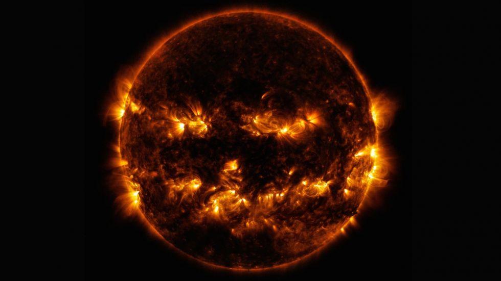 NASA Shares Spectacular Photo Of Sun Resembling A Jack-O'-Lantern