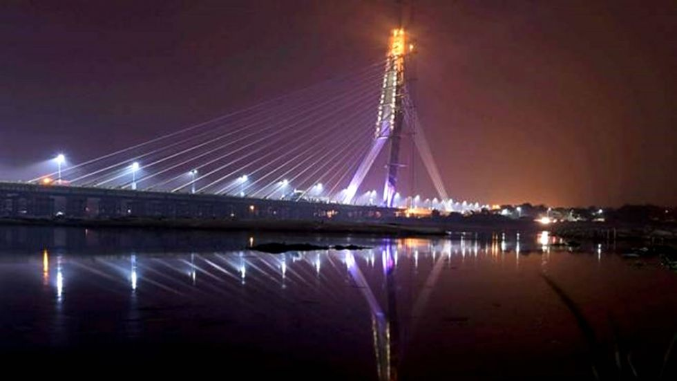 Delhi's Signature Bridge opened in November last year