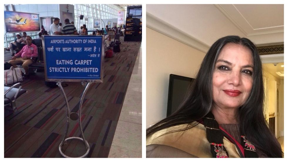 Shabana Azmi's Latest 'Airport Sign' Tweet Bawls Netizens Into Laughter