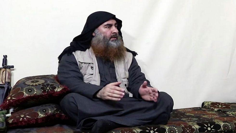 Islamic State chief Abu Bakr al-Baghdadi.