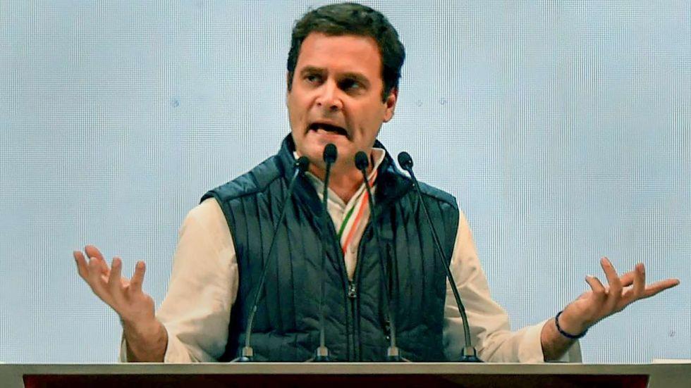 BJP targeted Congress leader Rahul Gandhi for his