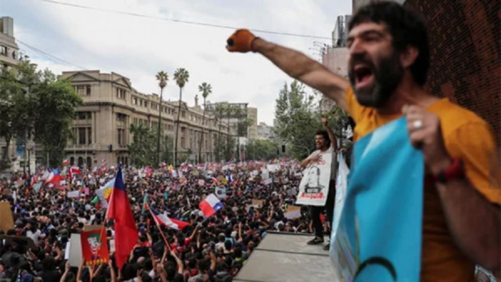 Chile's government said that it is backing away from a plan to cut corporate taxes following two weeks of protests.