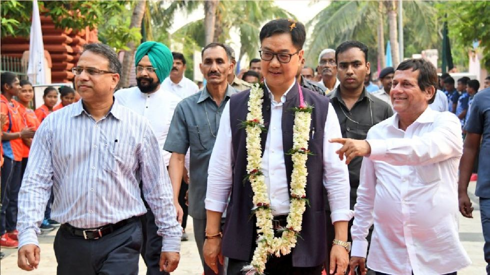 Sports Minister Kiren Rijiju said that the government will launch a football league for women next month.