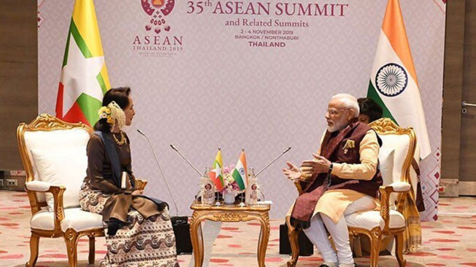 PM Modi and Suu Kyi held the meeting on the sidelines of the summit of the Association of Southeast Asian Nations (ASEAN).
