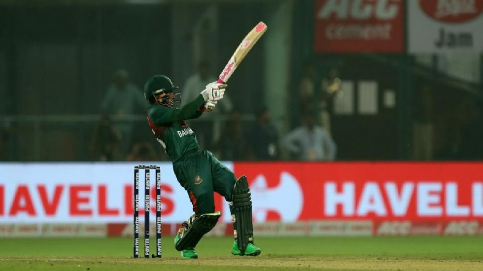 Mushfiqur Rahim scored unbeaten 60 off just 43 balls.