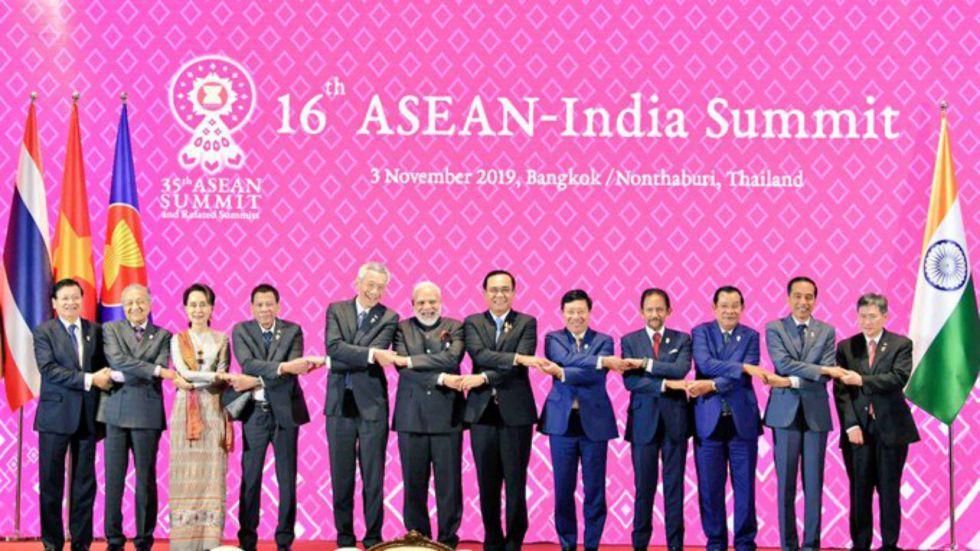 PM Modi addressed the India-ASEAN summit on Sunday