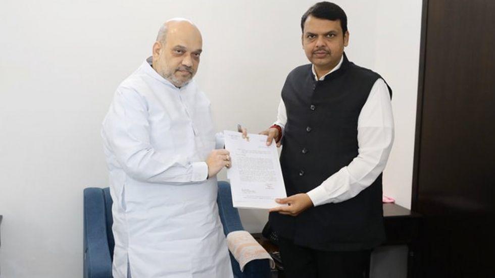 Amid Power Tussle In Maharashtra, Devendra Fadnavis Meets Amit Shah In Delhi