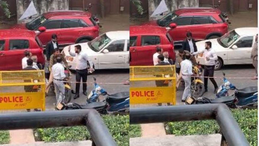 Watch: After weekend brawl in Tis Hazari, cop thrashed in Saket court in Delhi