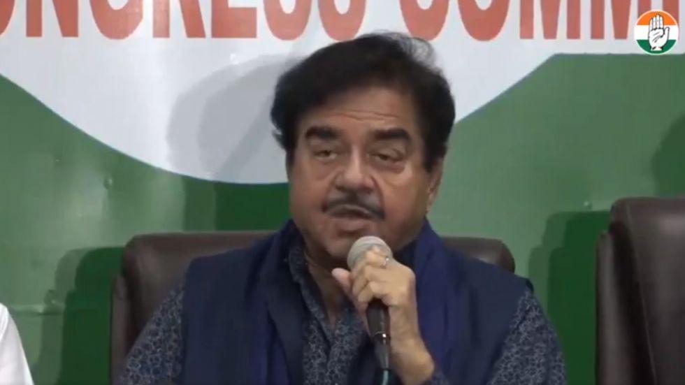 Congress leader Shatrughan Sinha
