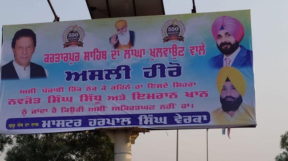Banners Hailing Sidhu, Imran As Real Heroes Of Kartarpur Project Surfaces In Amritsar