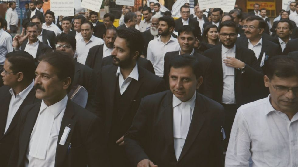 Lawyers continued their ongoing strike for third day