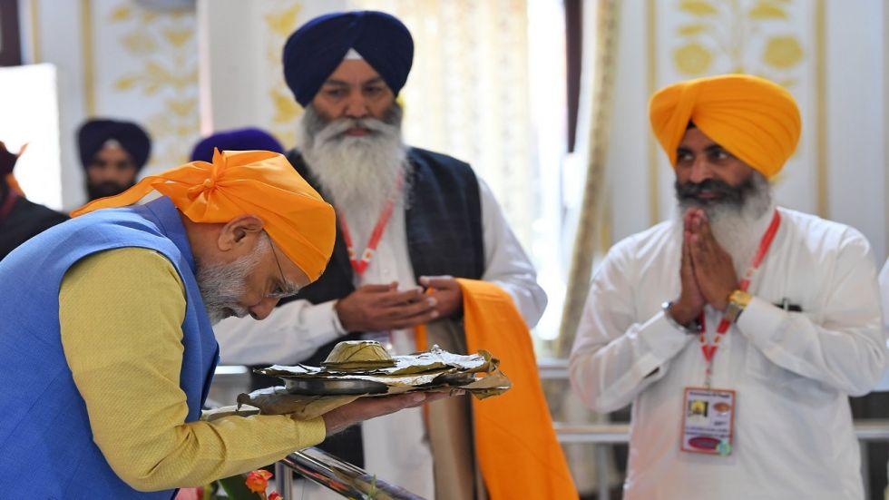 Prime Minister Narendra Modi inaugurated Kartarpur corridor that connects Dera Baba Nanak shrine in India's Punjab with Darbar Sahib in Pakistan's Narowal district.