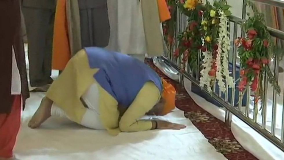Prime Minister Narendra Modi at the Ber Sahib Gurudwara