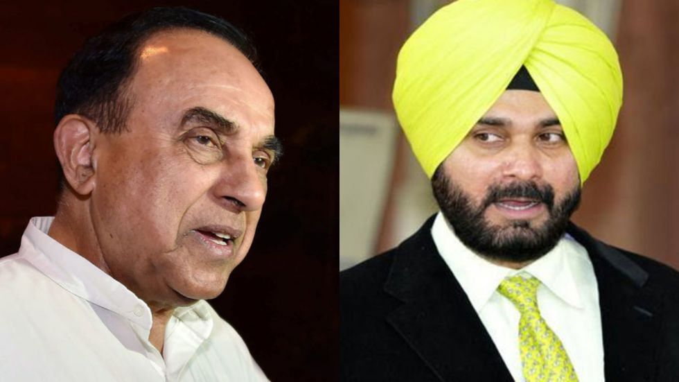 Subramanian Swamy has hit out at Navjot Singh Sidhu