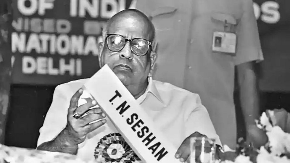 TN Seshan, former Chief Election Commissioner, dies in Chennai