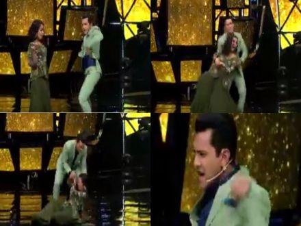Indian Idol 11: Neha Kakkar Falls On Stage While Dancing With Host Aditya Narayan, Watch VIDEO