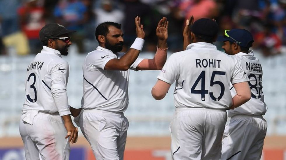 Mohammed Shami was the star as India bundled out Bangladesh for 150 on day 1 of the Indore Test.