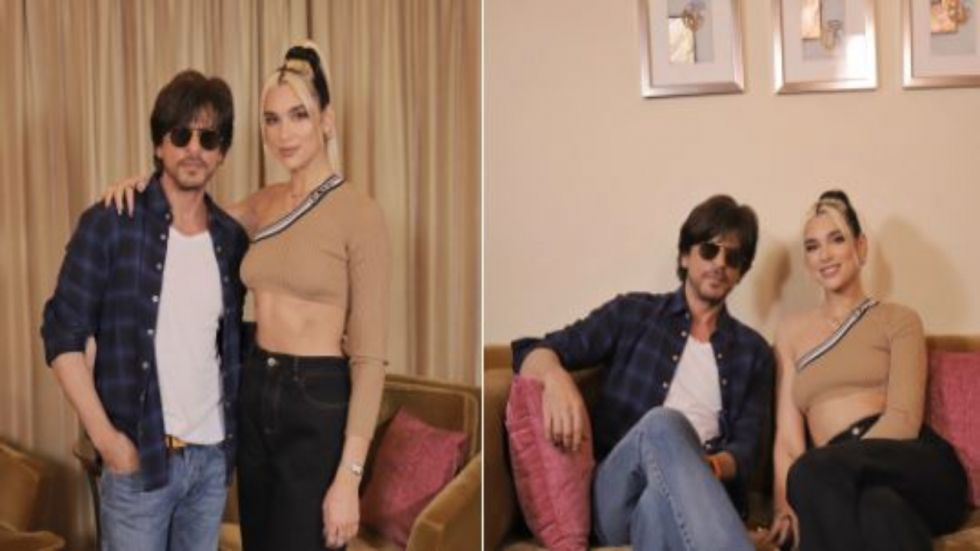 Shah Rukh Khan Meets Dua Lipa Ahead Of Her Performance