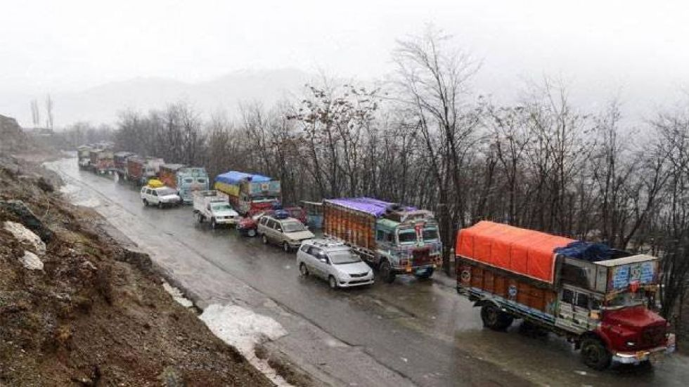 The Jammu-Srinagar national highway remained closed for the third day on Saturday.
