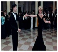 Blue Velvet Gown Princess Diana Wore To Dance With John Travolta In 1985 Up For Sale