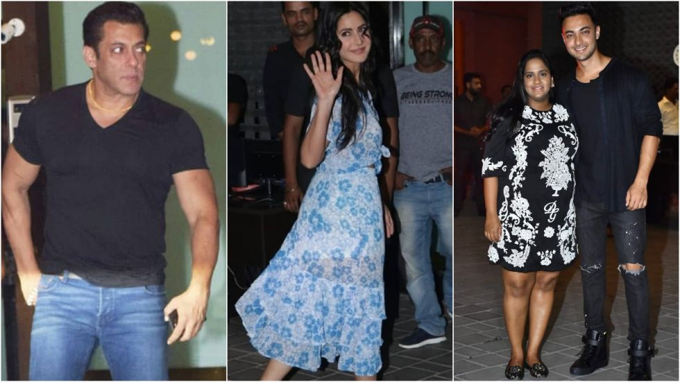 Salman Khan and Katrina Kaif at Arpita Khan-Aayush Sharma's anniversary bash