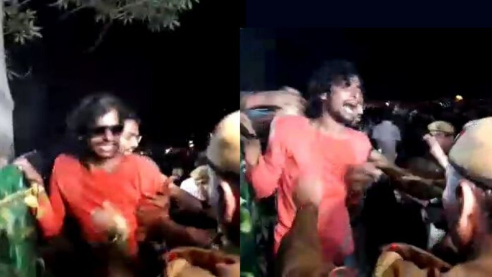 Shashi Bhushan Pandey claimed that police beat him up even when he told them he is
