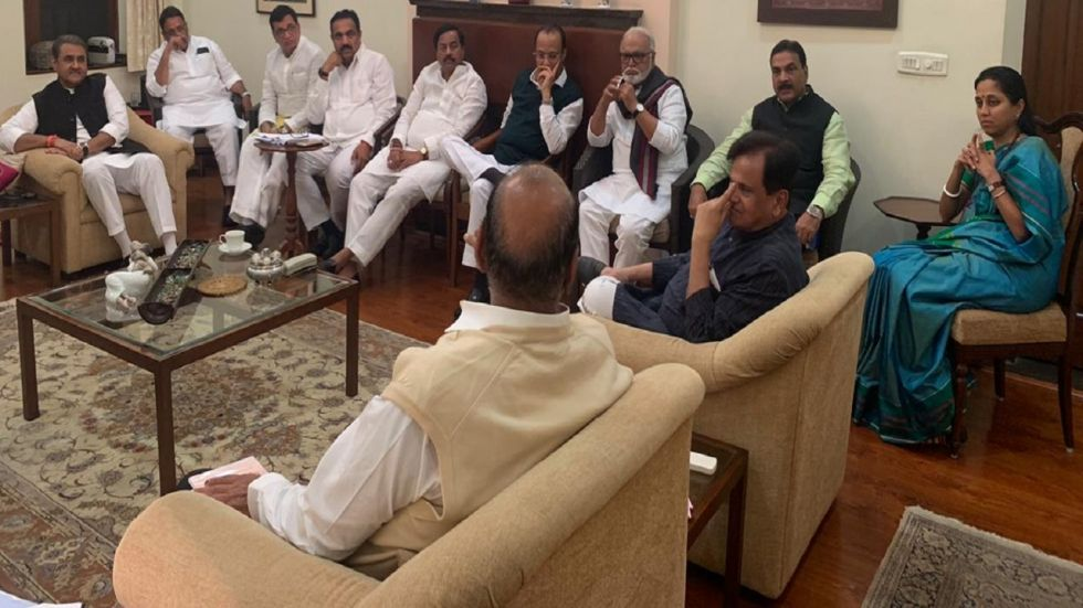 Congress and NCP leaders held back to back meetings at Sharad Pawar's residence on Wednesday.