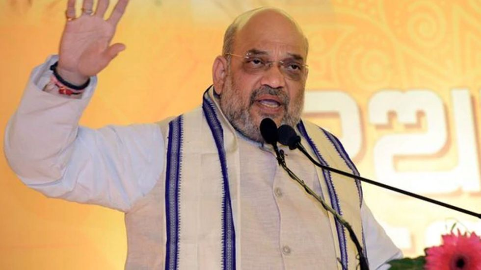 Amit Shah also accused the Congress of delaying a solution to the Kashmir issue for seven decades.