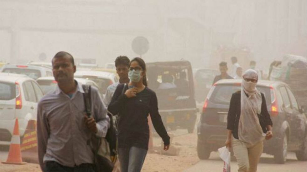 The air quality index of Delhi shot to scary 340 on SAFAR mobile app.